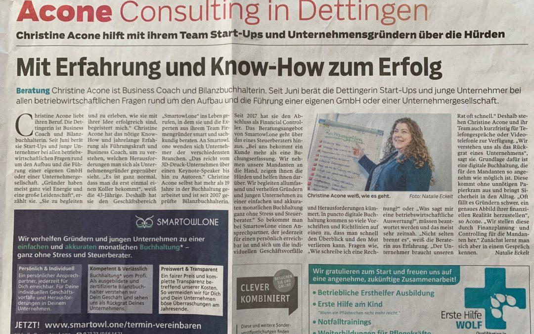 Presseartikel: Mit Erfahrung und Know-How zum Erfolg (SWP/14.12.2019)