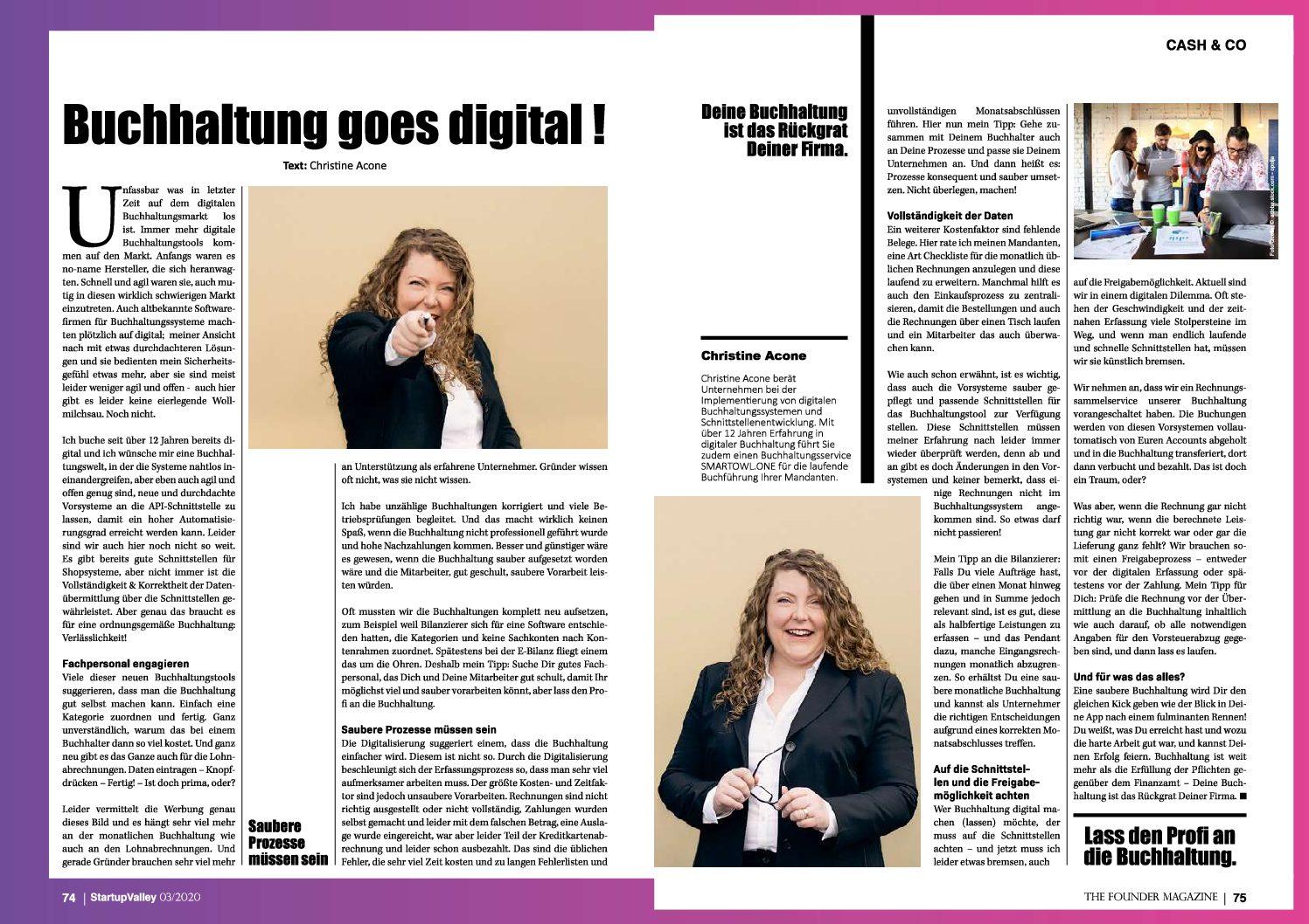 Exklusiver Artikel in der neuen Startup-Valley: Buchhaltung goes digital!